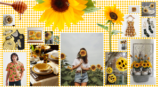 sunflower mood board
